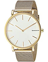 Men's 'Hagen' Quartz Stainless Steel Casual Watch, Color:Gold-Toned (Model: SKW6443)