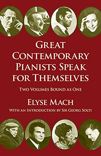 Great Contemporary Pianists Speak for Themselves (Dover Books on Music)