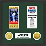The Highland Mint NFL New York Jets SB Championship Ticket Collection Frame