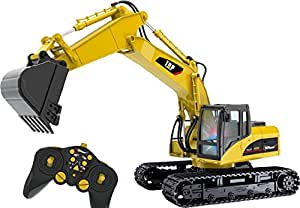 Top Race® 15 Channel Full Functional Professional RC Excavator, Remote Control Construction Tractor ~Metal Shovel~ (TR-211)