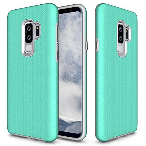 Samsung Galaxy S9 Plus Case, Galaxy S9+ Case, GSDCB Air Cushion Armor Heavy Duty Shockproof Phone Protective Case with Hard PC Back Cover + Soft TPU Dual Layer for Women Men Girls Kids Boys (Soft Back Cover)
