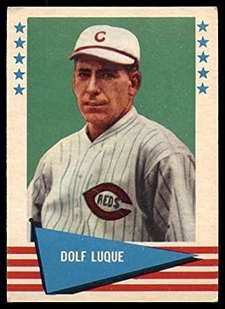 Amazoncom 1961 Fleer 56 Dolf Luque Cincinnati Reds Baseball