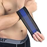 UMFun Multifunction Wrapped Wrist Elastic Bandage Guard Band Brace Sprains Strain Strap Wrist Protector Pain Relief (Dark Blue)