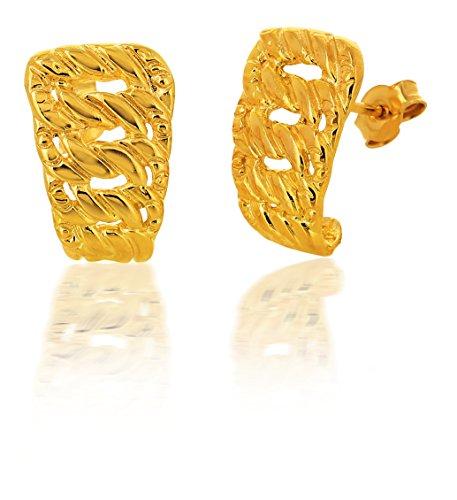 Boucles d'Oreilles Américaine Or Jaune 750/1000