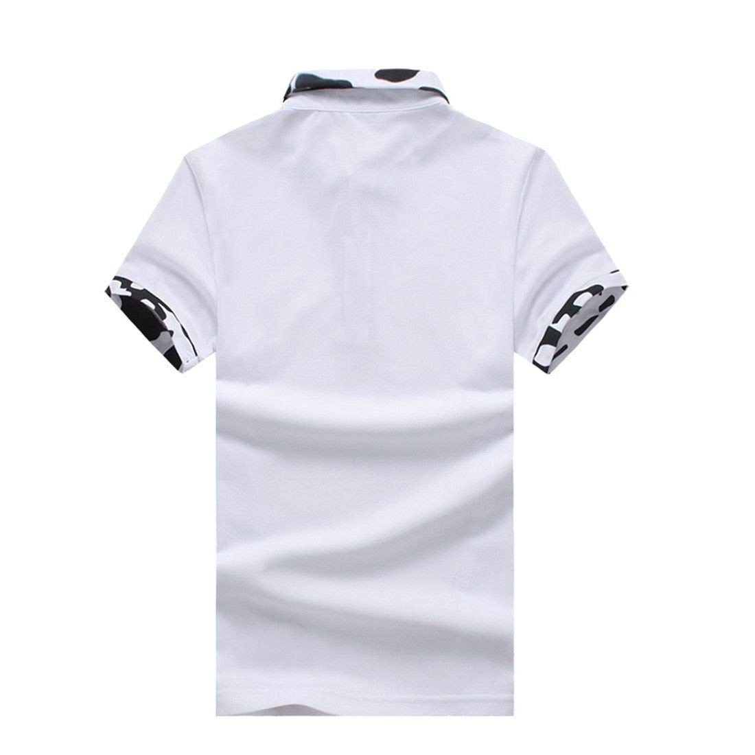 Polo Casual para Hombre Camisa De Corta Slim Fit De Manga ...