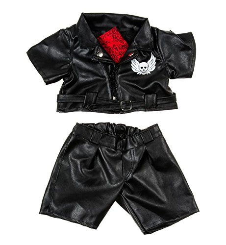 Easy Rider Biker Outfit Teddy Bear Clothes Fit 14