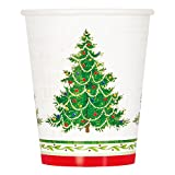 9oz Classic Christmas Tree Party Paper Cups, 8ct