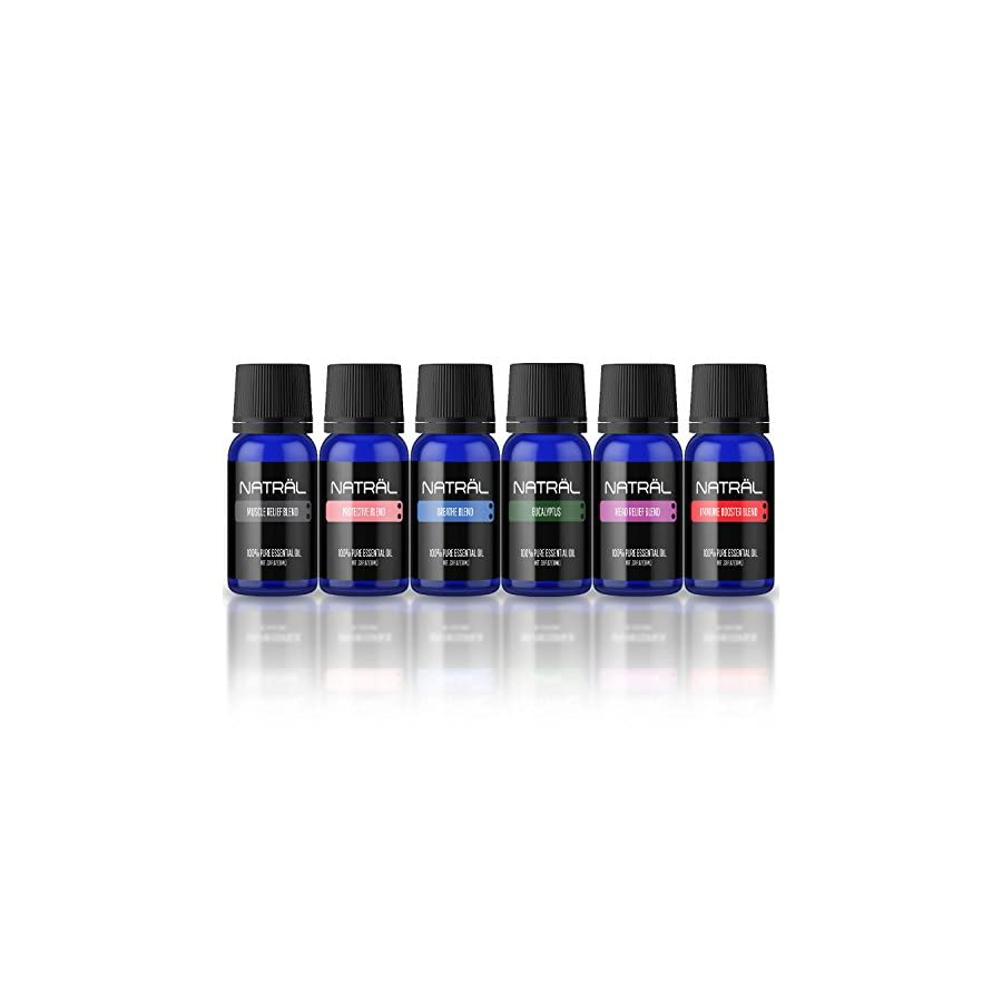 NATRÄL Stay Healthy Set of 6, 100% Pure and Natural Essential Oil, 6/10ml Bottles
