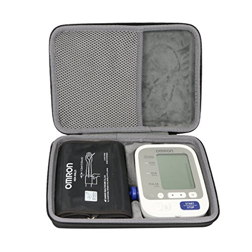 co2crea Hard Travel Case for Omron BP742N 5 Series Upper Arm Blood Pressure Monitor Cuff (Size L) by Co2Crea