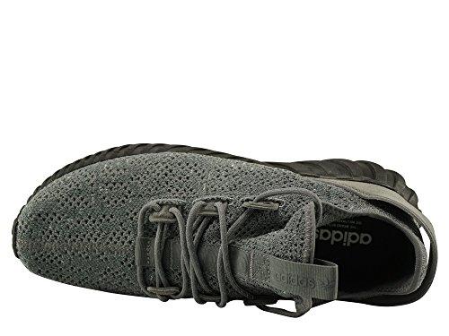 Adidas Originali Tubolare Doom Calzino Primeknit Scarpe Grigio / Nero / Bianco