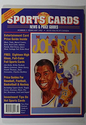 FEBRUARY 1992 SPORTS CARDS, NEWS AND PRICE GUIDES, MAGIC JOHNSON LAKERS COVER