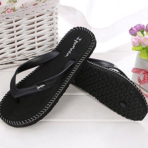 Hunpta Männer Sommer Schuhe Sandalen Herren Pantoffel Indoor oder Outdoor Flip Flops Schwarz