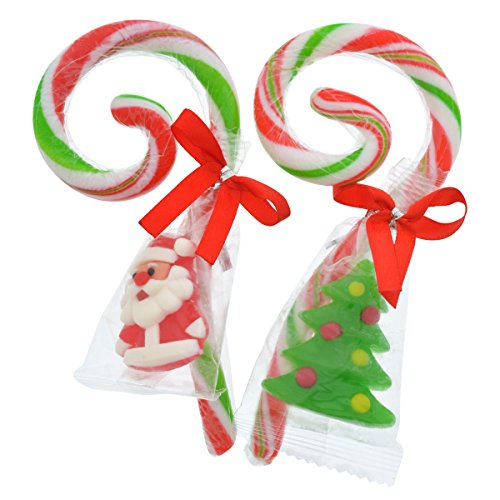 - Christmas House Curly Candy Cane with Gummy Candies