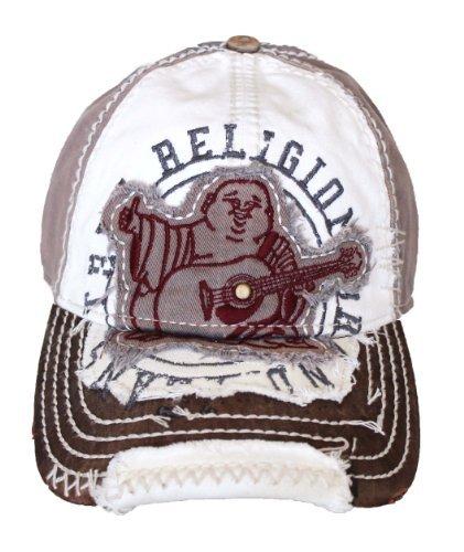 New True Religion Unisex Buddha Distressed Seal Trucket Hat Cap TR 1101 3ed6956a5385