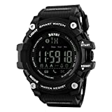Bounabay Men's Multifunctional Digital Sport Watch with Bluetooth Pedometer, 5ATM waterproof,Black