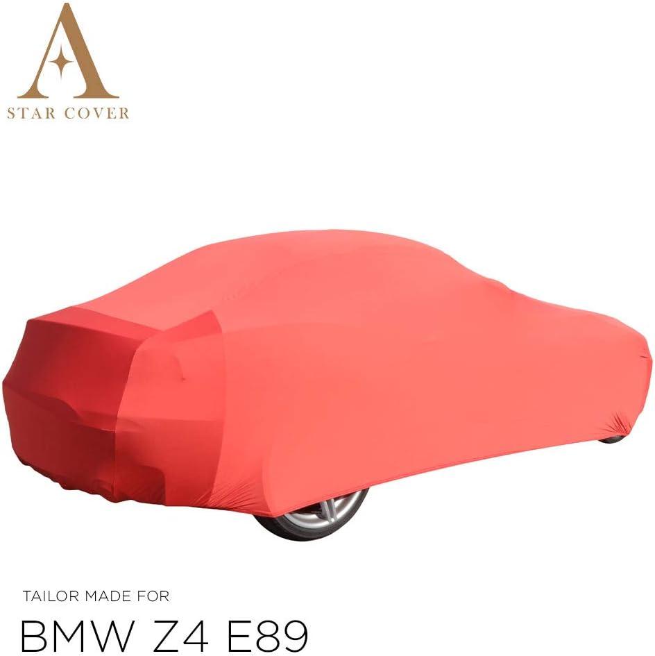 Rosso GARAGECOVER vestibilit/à Perfetta E Cover su Misura Consegna Rapida E89 Telo COPRIAUTO da Interno su Misura per BMW Z4