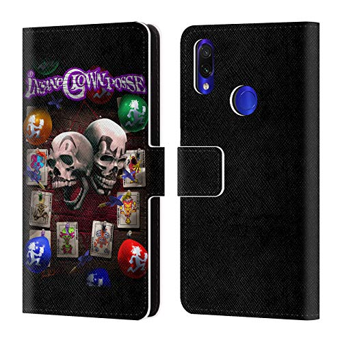 Official Tom Wood Darts of Fate Insane Clown Posse Leather Book Wallet Case Cover Compatible for Xiaomi Redmi Note 7/7 Pro