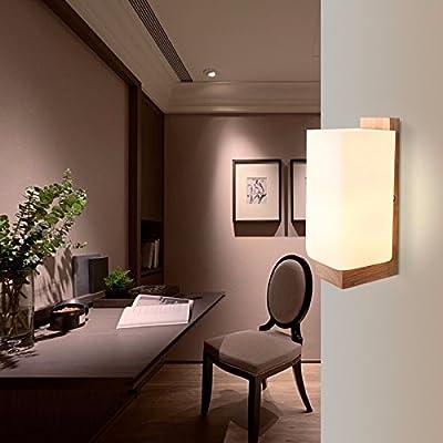 ZhuoYuan Registros de luces LED de pared apliques cama dormitorio estudio balcón pasillo adherir la escalera apliques de pared personalidad: Amazon.es: Iluminación