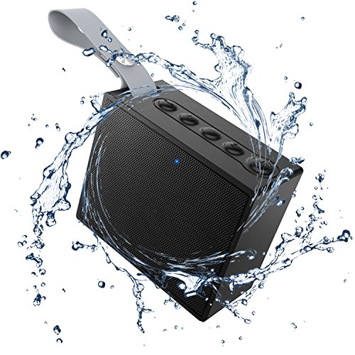 HC-RET Bluetooth 4.2 Ultraportable Wireless Speakers Waterproof IPX6 Rating with 5W Deep Bass for Hiking, Pool, Beach, Golf and Home - Black