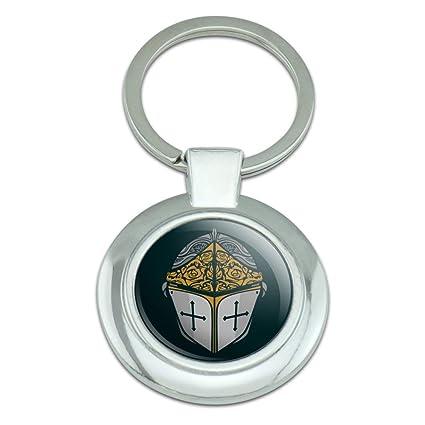 Knight Warrior - Llavero de metal cromado con diseño de ...