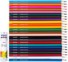 Deli Premium Barreled 24 Colors Oily Colored Pencils, Pencil Sharpener Included, Children Painting Set, Sketch Coloring...