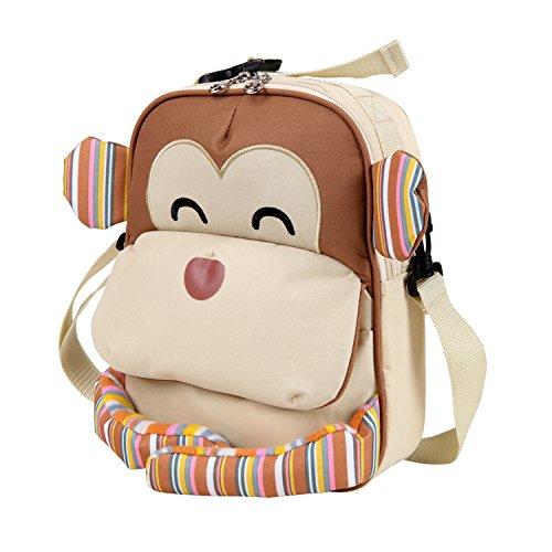 kids-insulated-lunch-bag-toddler-backpack-for-boys-girls-monkey-khaki