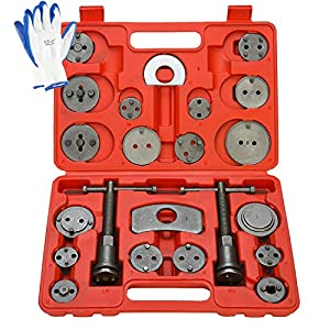 8MILELAKE Brake Caliper Wind Back Tool 24pc Professional Disc Brake Caliper Tool Set