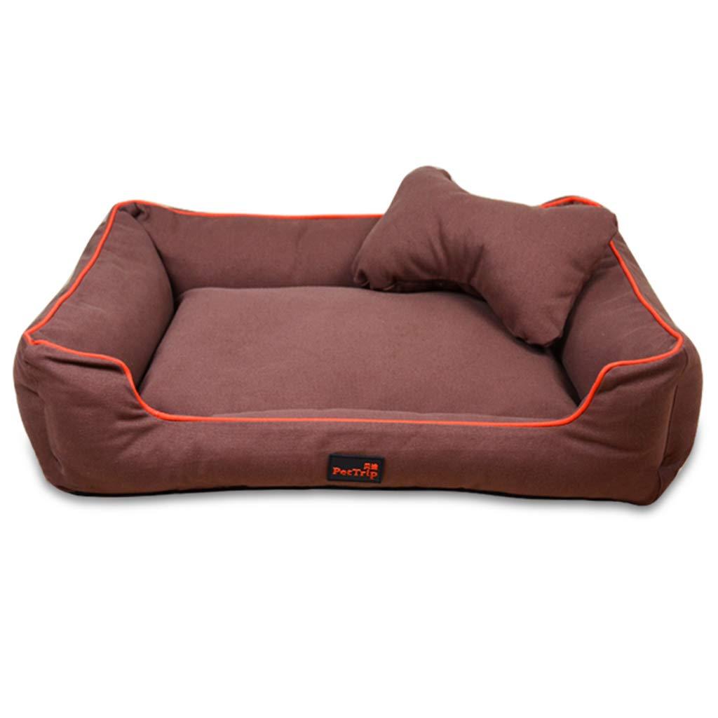 protezione post-vendita Pet Mat, Large Dog Kennel Kennel Kennel Cat House Rimovibile e Lavabile Pet Nest Resistente all'Usura Pet Bed (colore   Marronee, Dimensioni   85×60×20cm)  ti renderà soddisfatto
