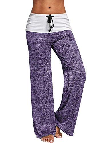 De Vivos Pantalones Mujeres Color Corte Largos Salón Dorado Para Yoga Colores Huateng OaEqv