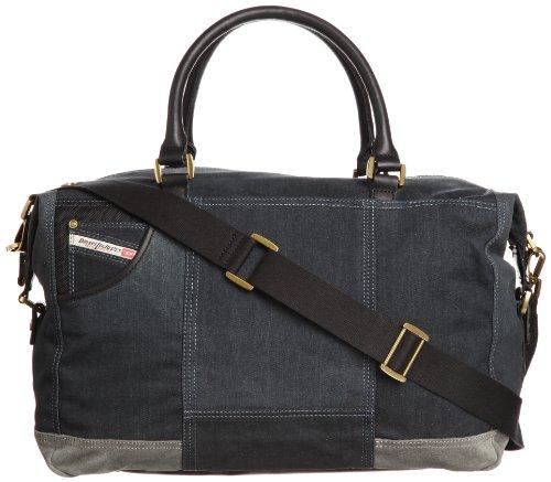 Diesel Home Of The Brave Brave Trip II Duffle Bag,Blue Denim/Grey,One Size