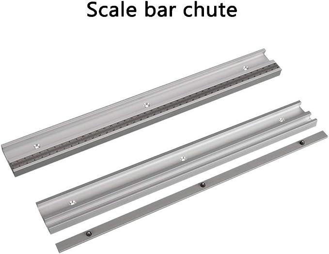 Laecabv Type45 T-Slot Mitre herramienta de carpinter/ía Carril de inglete T T-Track de aluminio aleaci/ón Mesa de carpinter/ía Router Herramienta