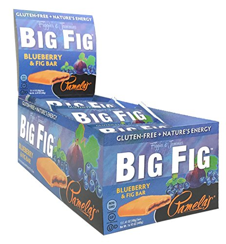 Pamela's Gluten Free Organic Giant Sized Big Fig Cookies, Blueberry & Fig, 12 Count (Pack of 4)