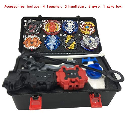 8pcs Beyblade Set H Classictoys TAA19  Spinning Tops  Burst Set Toys s Arena Bayblade Metal Fusion Fighting Gyro 4D With Launcher Spinning Top  by TAA19