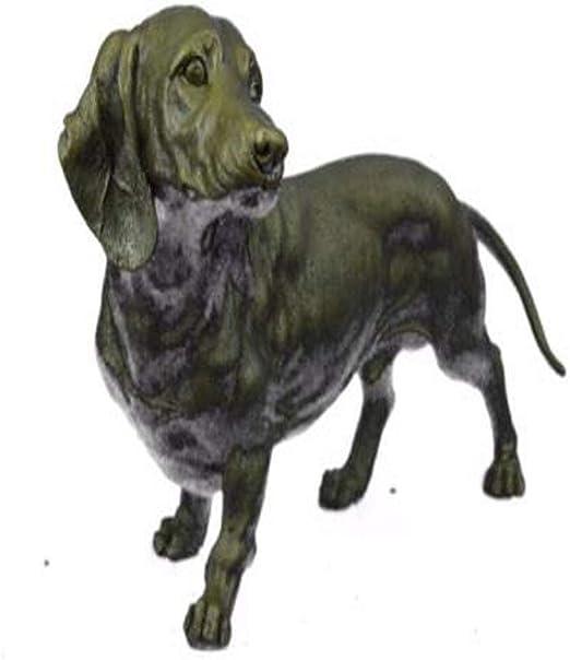 Metal Dachshund Dog Sculpture Classic Detailed Artwork High Quality Statue Sale