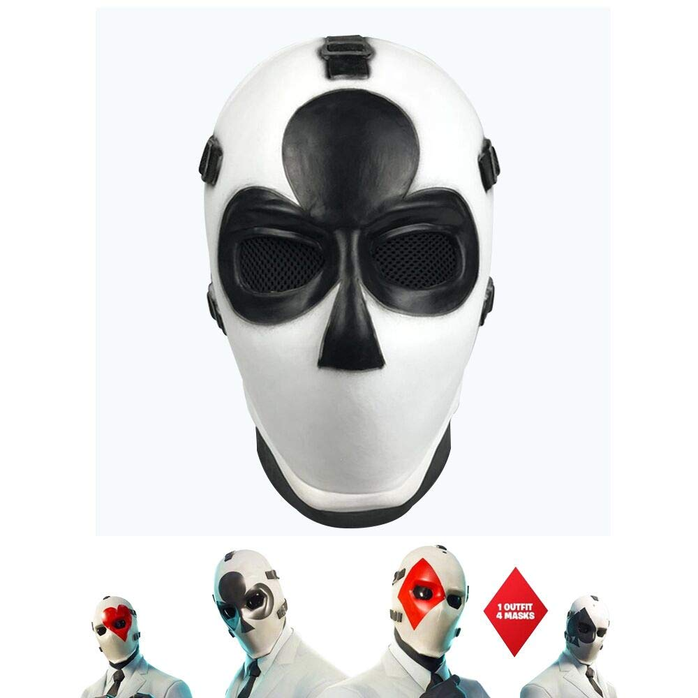Square Vercico Square Poker Face Mask Carnival Christmas Halloween New Year Easter Theme Party Head Mask