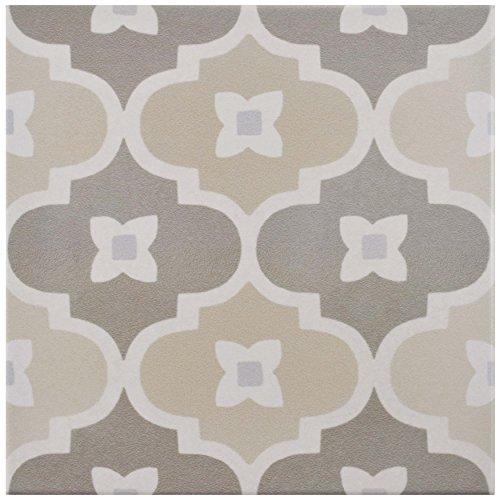 SomerTile FEQ8CPBT Anacapri Porcelain Floor & Wall Tile, 7.875