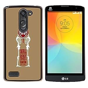 """Be-Star Único Patrón Plástico Duro Fundas Cover Cubre Hard Case Cover Para LG L Prime / L Prime Dual Chip D337 ( Corazón del amor Cráneo divertido Marrón Blanco"""" )"""