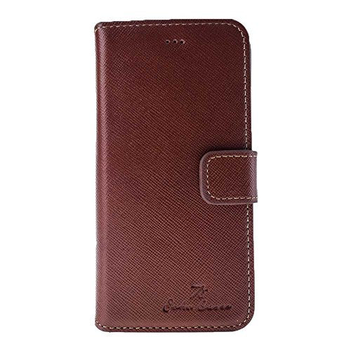 Apple iPhone 6/6S Case, iPhone 6/6S Wallet Case, Soho Handmade Leather Wallet Folio Cover Case with [Credit Cards Slots]-[Magnetic Closure]-[Built-in Stand] (Champagne ()