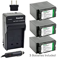 Kastar Battery (3-Pack) and Charger Kit for Panasonic CGR-D54S, CGA-D54, VSK0581 work with Panasonic AG-3DA1, AG-AC90, AG-DVC30, AG-DVC32, AG-DVC33, AG-DVC60, AG-DVC62, AG-DVC63, AG-DVC80, AG-DVC180, AG-DVX100, AG-DVX102, AG-HPX170, AG-HPX250, AG-HPX255, AG-HVX200, AJ-PCS060G, AJ-PX270PJ, HDC-Z10000, NV-DS29, NV-DS30, NV-DS50, NV-GX7, NV-MX5, NV-MX350, NV-MX500, NV-MX1000, NV-MX2500, NV-MX5000, AG-HRX200