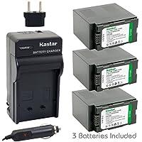 Kastar Battery (3-Pack) and Charger Kit for Panasonic CGR-D54S, CGA-D54, VSK0581 work with Panasonic AG-3DA1, AG-AC90, AG-DVC30, AG-DVC32, AG-DVC33, AG-DVC60, AG-DVC62, AG-DVC63, AG-DVC80, AG-DVC180, AG-DVX100, AG-DVX102, AG-HPX170, AG-HPX250, AG-HPX255, AG-HVX200, AJ-PCS060G, AJ-PX270PJ, HDC-Z10000, NV-DS29, NV-DS30, NV-DS50, NV-GX7, NV-MX5, NV-MX350, NV-MX500, NV-MX1000, NV-MX2500, NV-MX5000, AG-HRX200