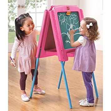 Amazon Com Step2 Sketch Store Easel Pink Baby Toys Baby
