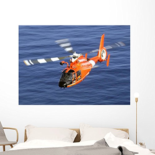 Coast Guard Hh-65a Dolphin Wall Mural by Wallmonkeys Peel and Stick Graphic (60 in W x 43 in H) WM92222