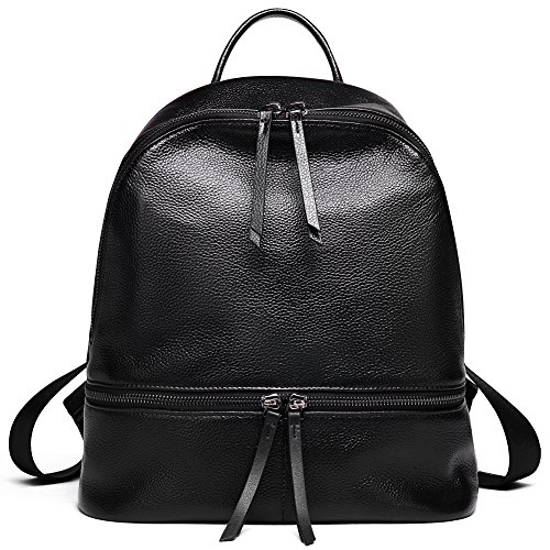 ANA LUBLIN Leather Backpack School Backpack for Girls Purse for Women Ladies Fashion Casual Satchel Bag ()