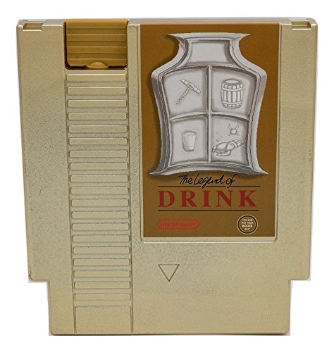 ble Entertainment System Flask – Looks Like a Retro Video Game Cartridge – But It's a Flask with a Hilarious Label (Gold Legend of Drink) ()