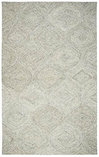 (Rizzy Home BRIBR365A00040912 Brindleton Collection Hand-Tufted Wool Area Rug, 9' x 12', Beige/Gray/Rust/Blue)