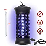 Bug Zapper,Portable Electric Fly Zapper Outdoor Trap Catcher Indoor Mosquito Killer with UV Protects About 2,000/Bug and Fly Killer, Insect Killer For Home,Office,Restaurant with Bouns Lamp (Black)