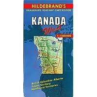 Hildebrand's Urlaubskarten, Canada, West (Hildebrand's Canada maps)