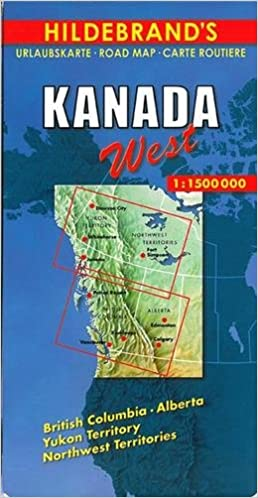 hildebrands travel map canada hildebrands canada maps amazoncouk collectif 9783889892782 books