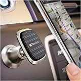 Magnetic car Mount Universal Cars Interior Phone Holder Compatible with All Smartphones and Mini Tablets by Bestrix (Metal)