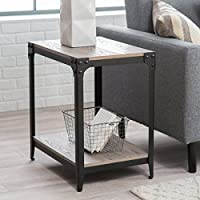 End Table Trenton Beautiful Drift Wood with Metal Frame Furniture